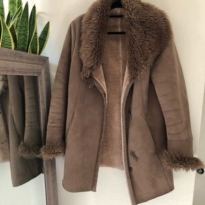 Vintage Faux suede shearling Penny Lane Jacket